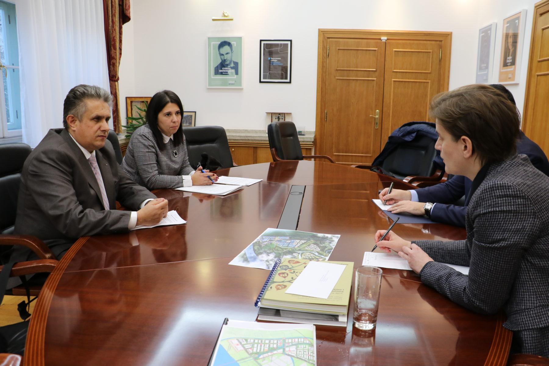 Miletić se sastao sa premijerkom Anom Brnabić