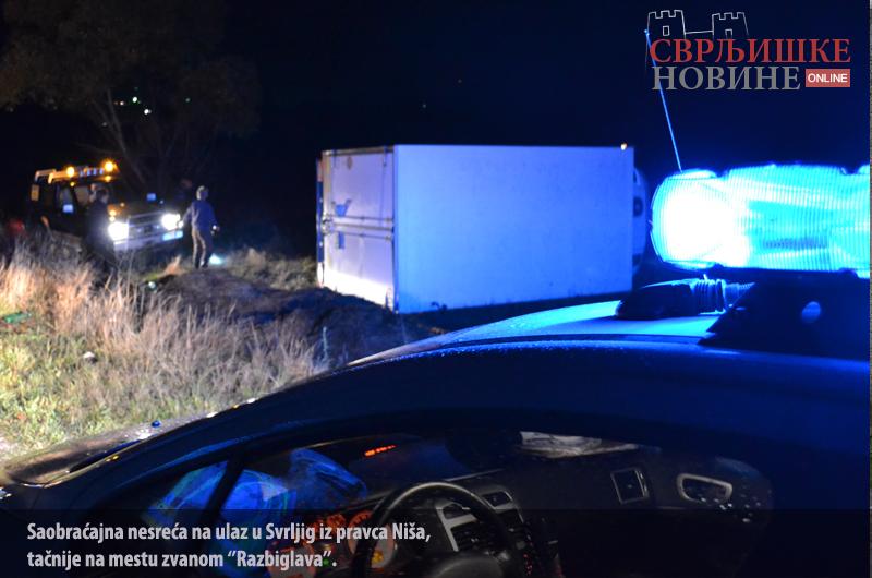 Saobraćajna nesreća na ulaz u Svrljig iz pravca Niša