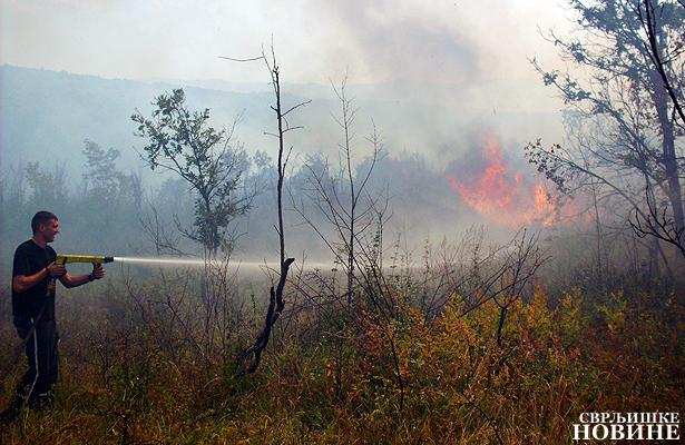 Požar u selu Lozan