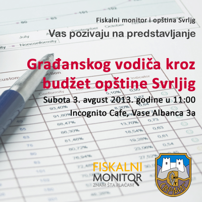 Javna prezentacija Građanskog vodiča kroz budžet opštine Svrljig