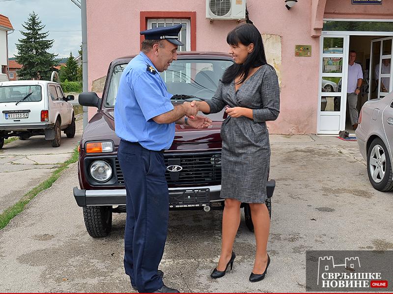 Opština donirala terensko vozilo Policijskoj stanici Svrljig