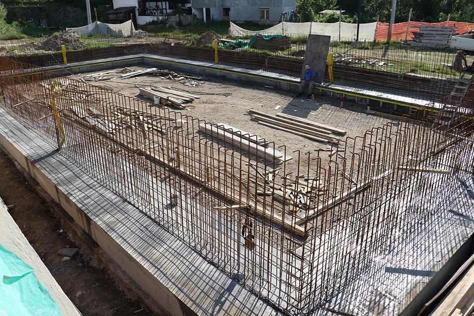 Izgradnja bazena po planu