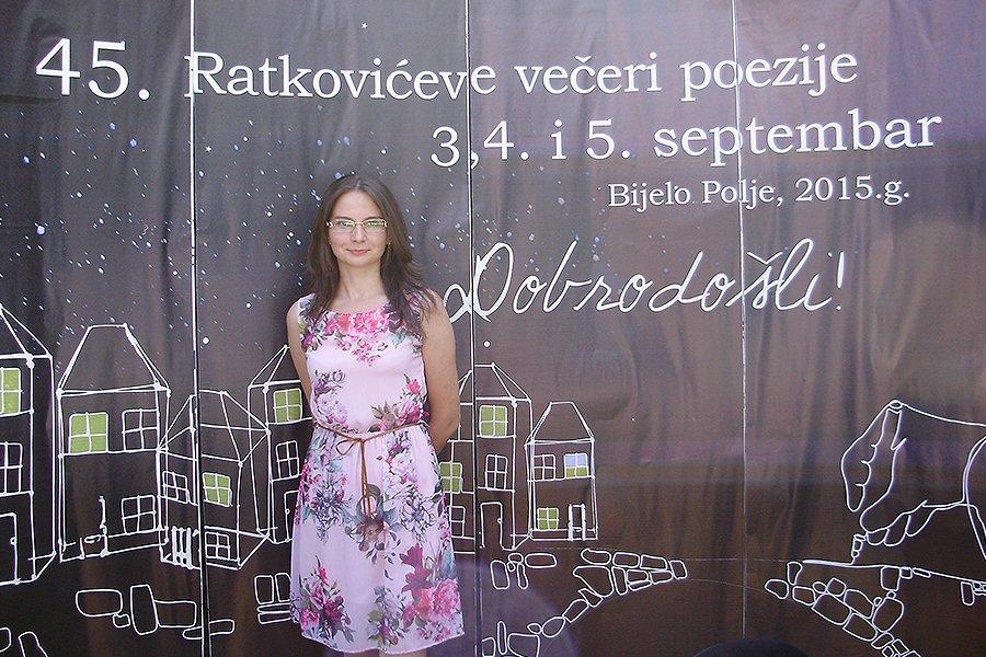 """Milica Milenković na """"45. Ratkovićevim večerima poezije"""" u Crnoj Gori"""