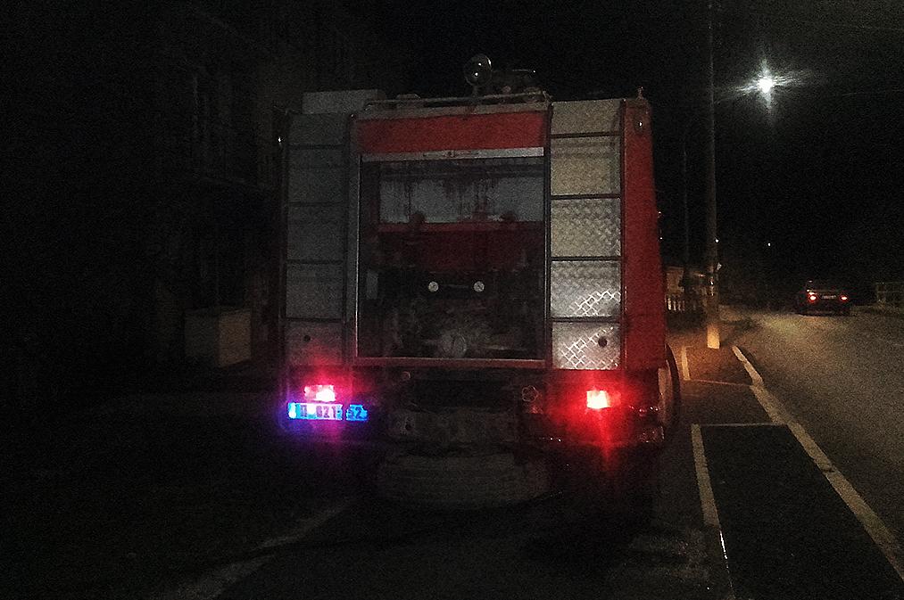Požar u ulici Vase Albanca