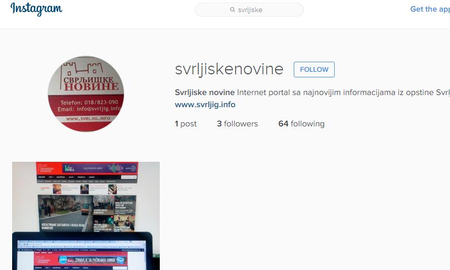"""Pratite """"Svrljiške novine"""" i na Instagramu"""