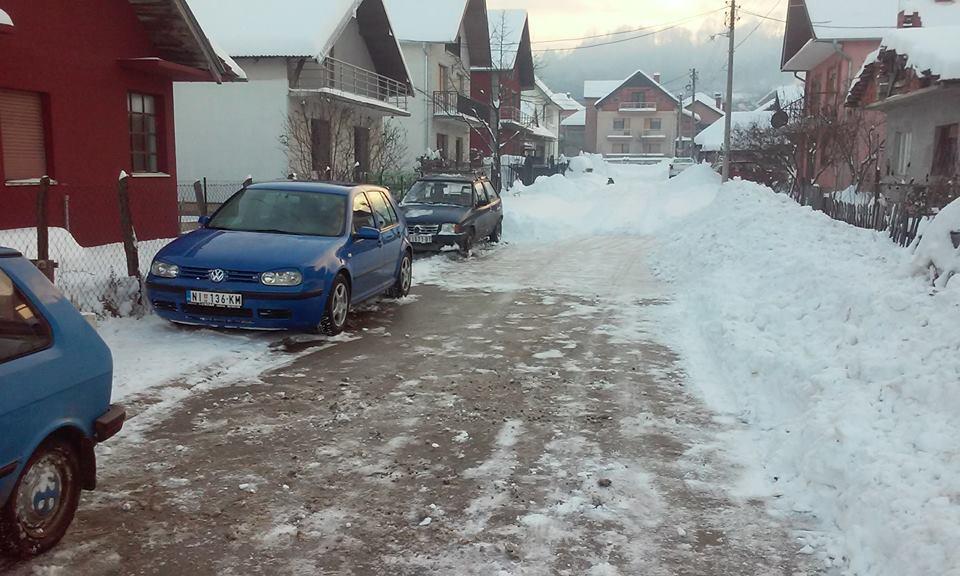 Ulica Desanke Milutinovic danas oko 14h