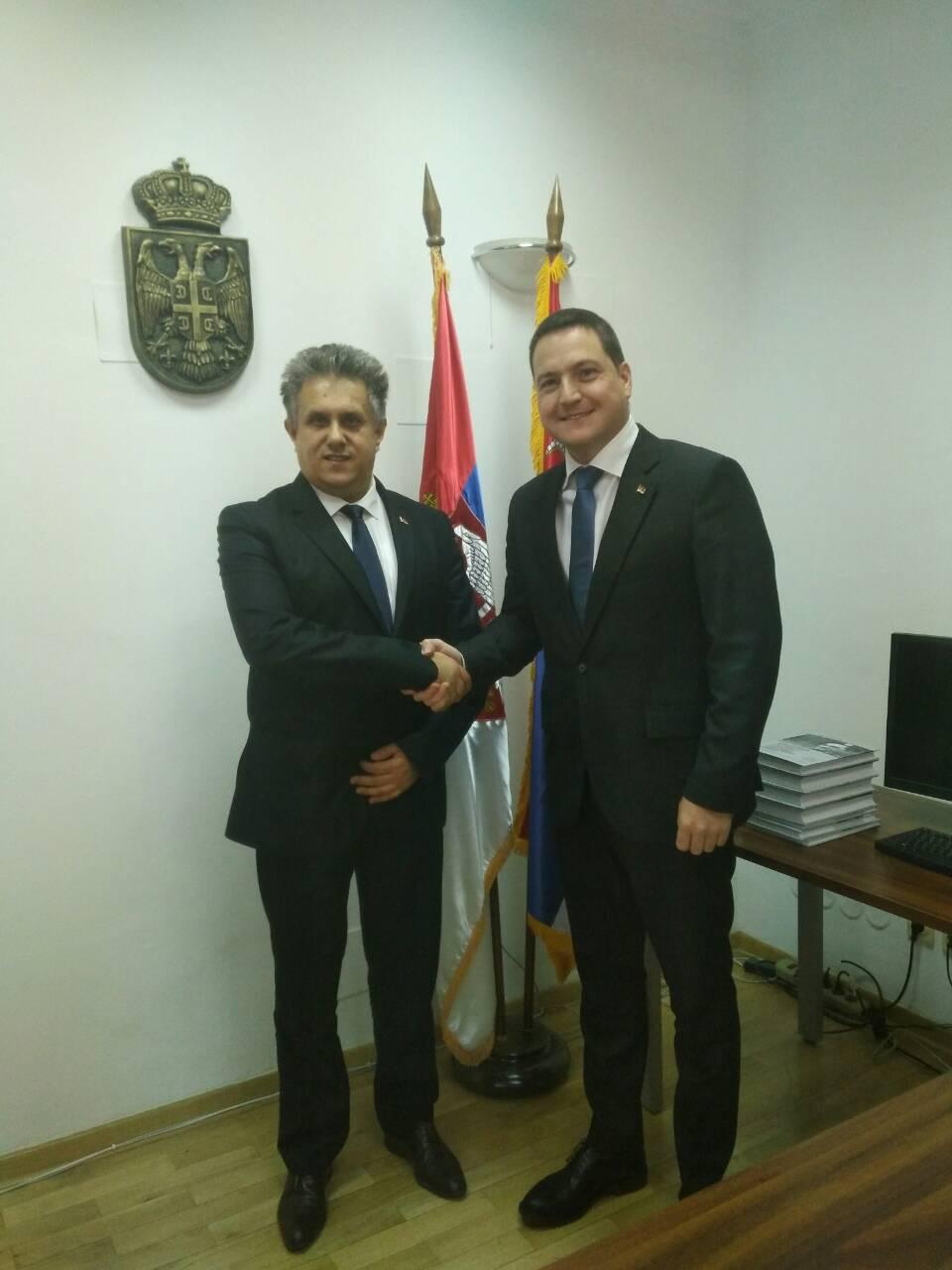 Narodni poslanik Miletić sa ministrom Ružićem, foto: M.M.