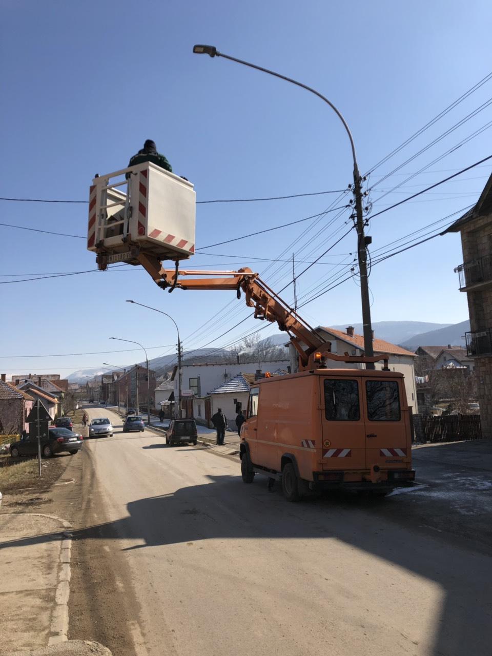 Zamena ulične rasvete, foto: M.M.