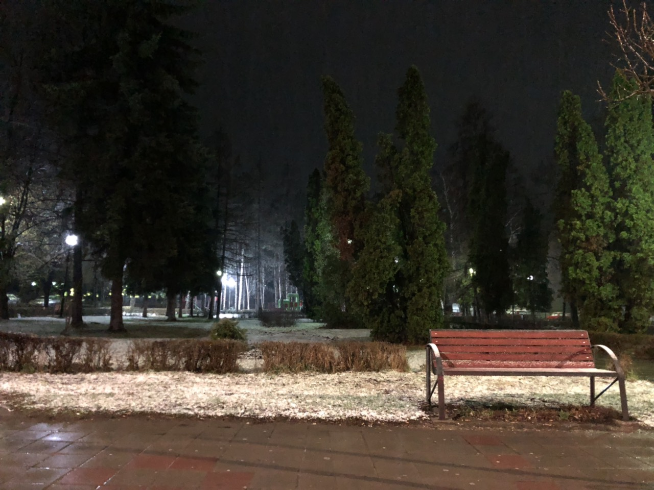 Sneg u martu, gradski park, foto: S.M.