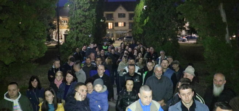 Prvi protest u Svrljigu, foto: M.M.
