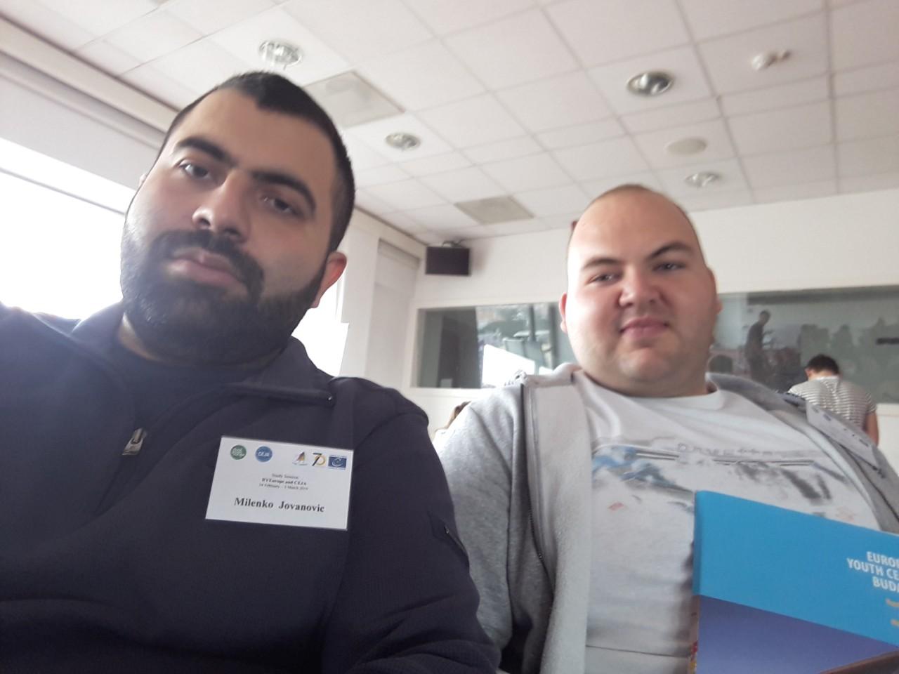 Milenko Jovanović (levo), Mihajlo Stevanović (desno), foto: M.J. / M.S.