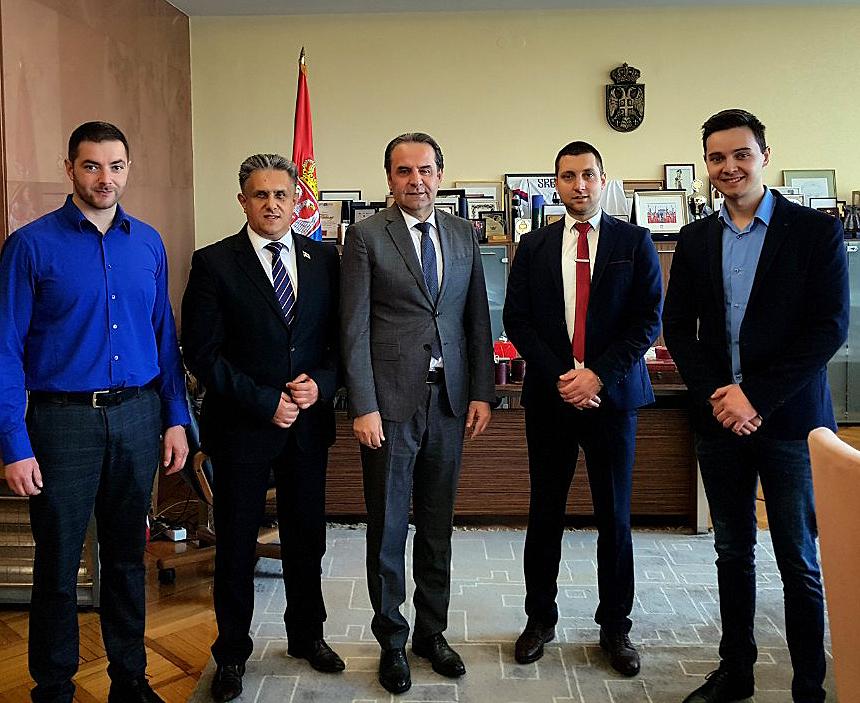 Ministar Ljajić sa narodnim poslanikom Miletićem i njeogvim saradnicima, foto: M.M.