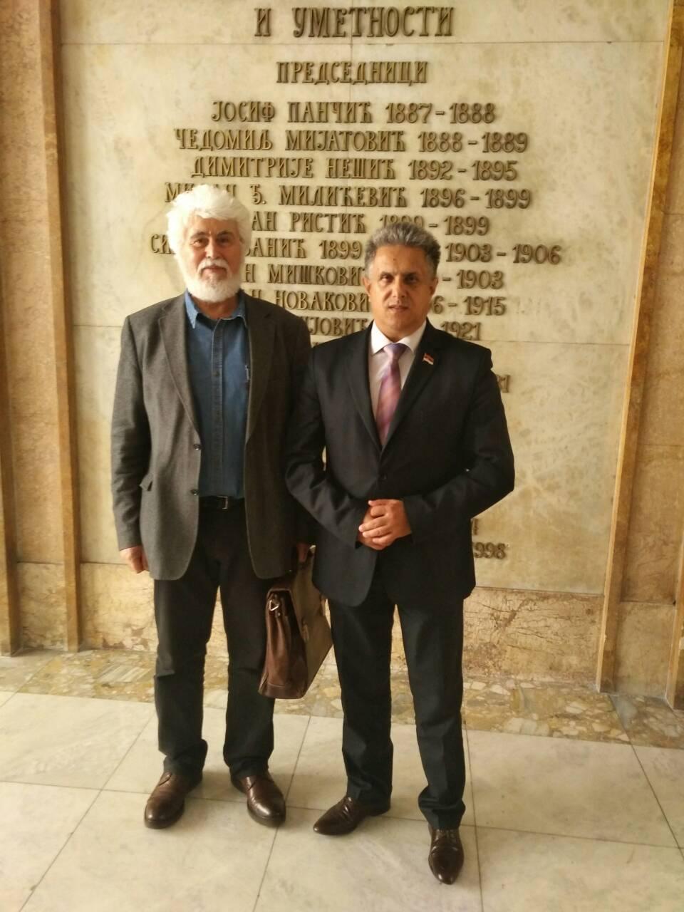 Miletić se sastao sa akademikom iz Svrljiga