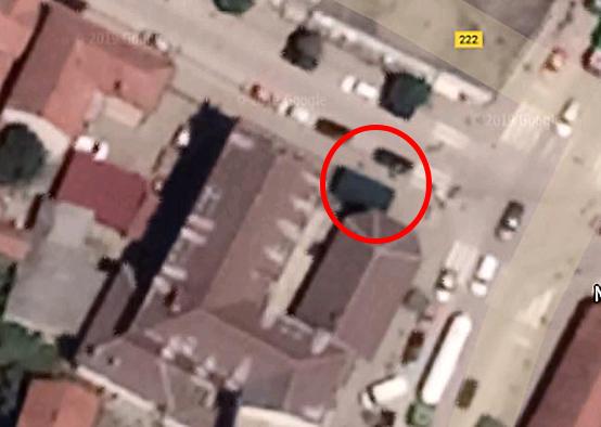 Sporno mesto gradnje, foto: Google maps
