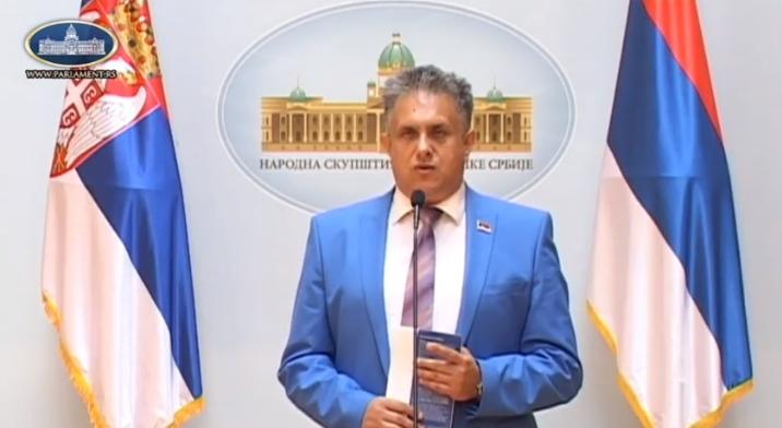 Miletić Milija, foto: Parlament Srbije, prtScr