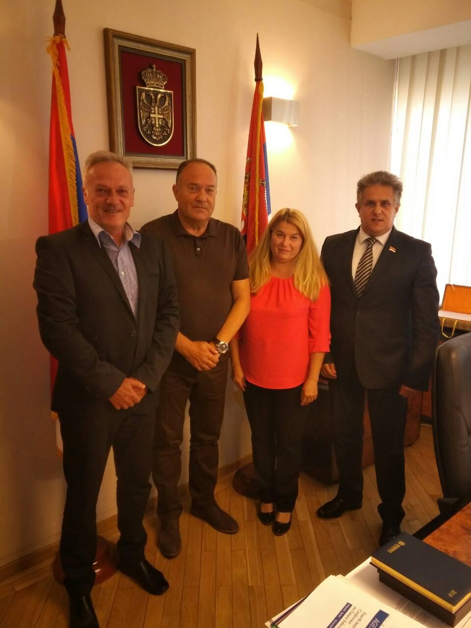 Milija Miletić sa ministrom Šarčevićem o razvoju školstva u Svrljigu