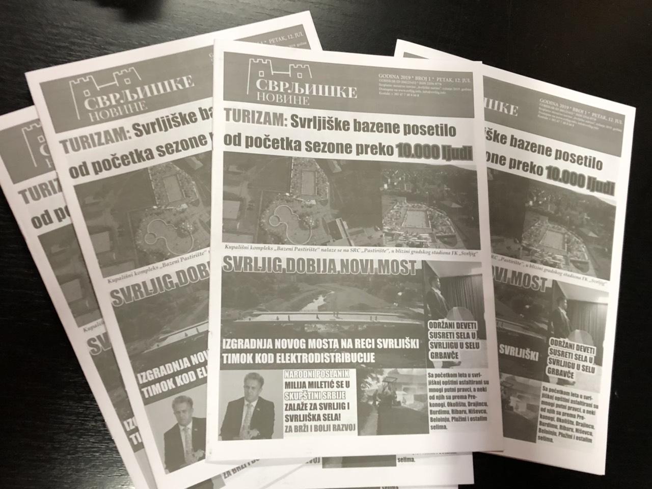 """Iz štampe izašao prvi broj ,,Svrljiških novina"""""""