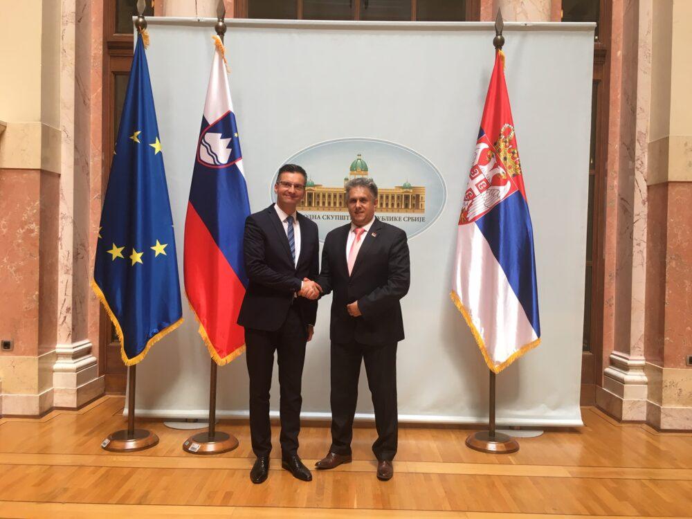 Miletić i Šarec, foto: Parlament Srbije