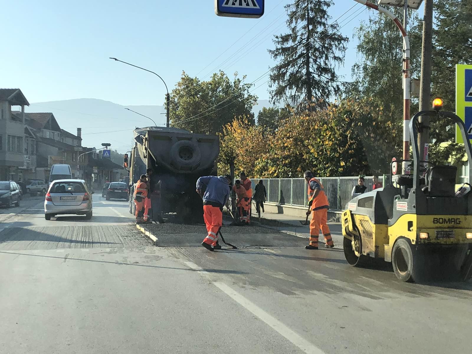 Ležeći policajci, postavljanje, foto: D. Miladinović