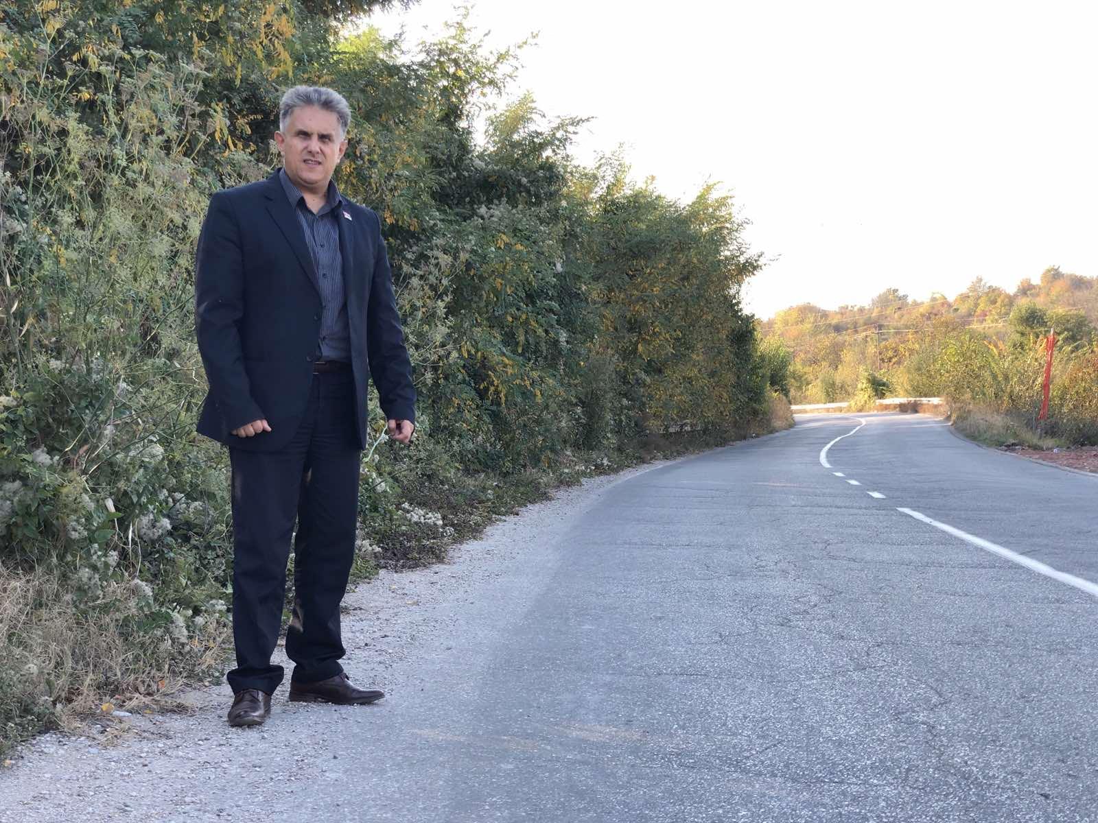 Miletić obilazi saobraćajnicu, foto: M.M.