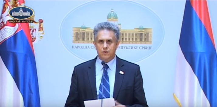 Milija Mileitć, foto: Screenshoot Parlament Srbije, youtube kanal