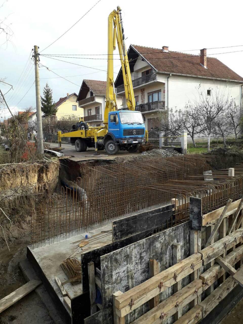 Radovi na izgradnji mosta, foto: M.M.