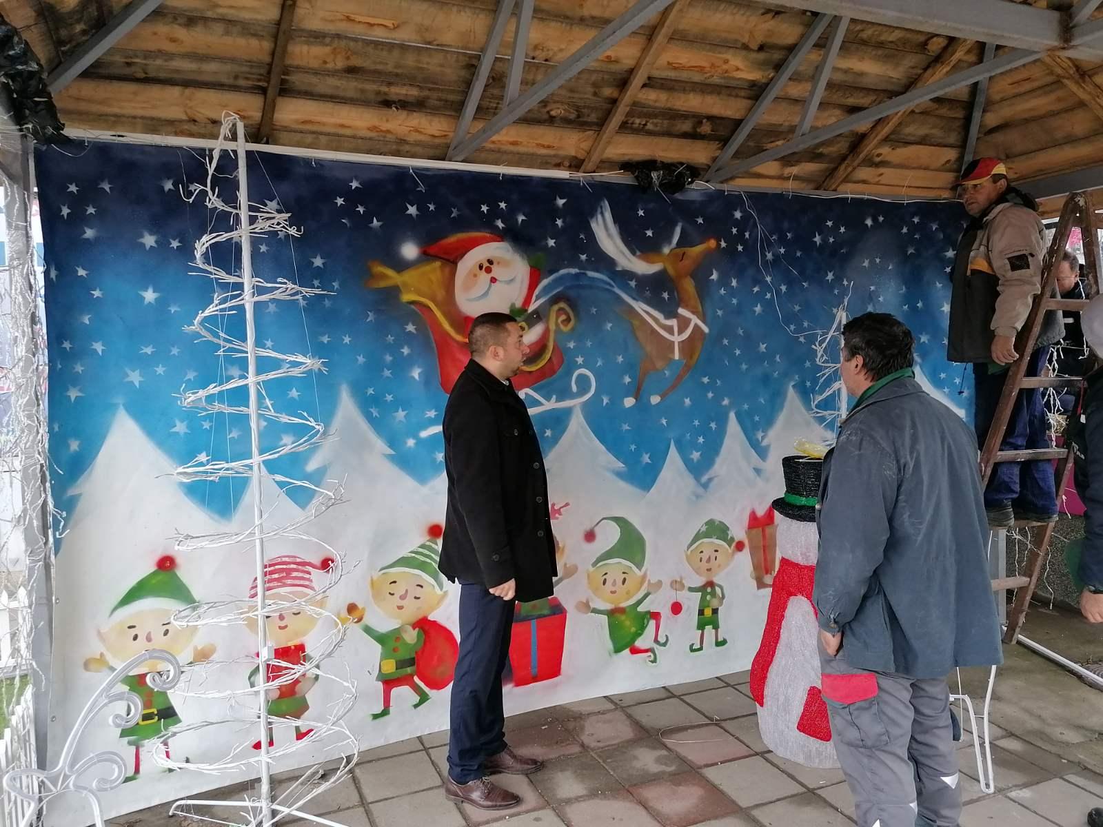Platno sa novogodišnjim motivima, foto: M. Stevanović