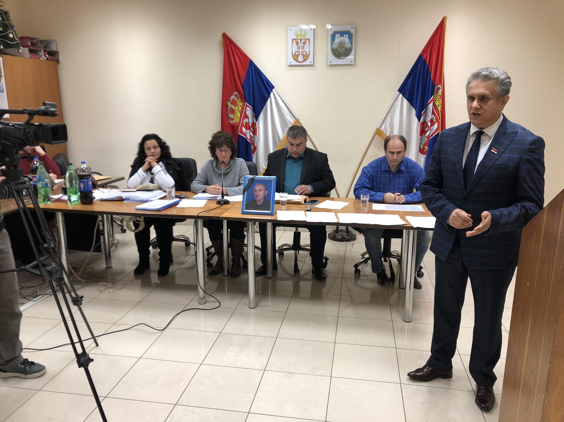 Poslednji pozdrav odborniku Ljubinku Đorđeviću, foto: M. Miladinović