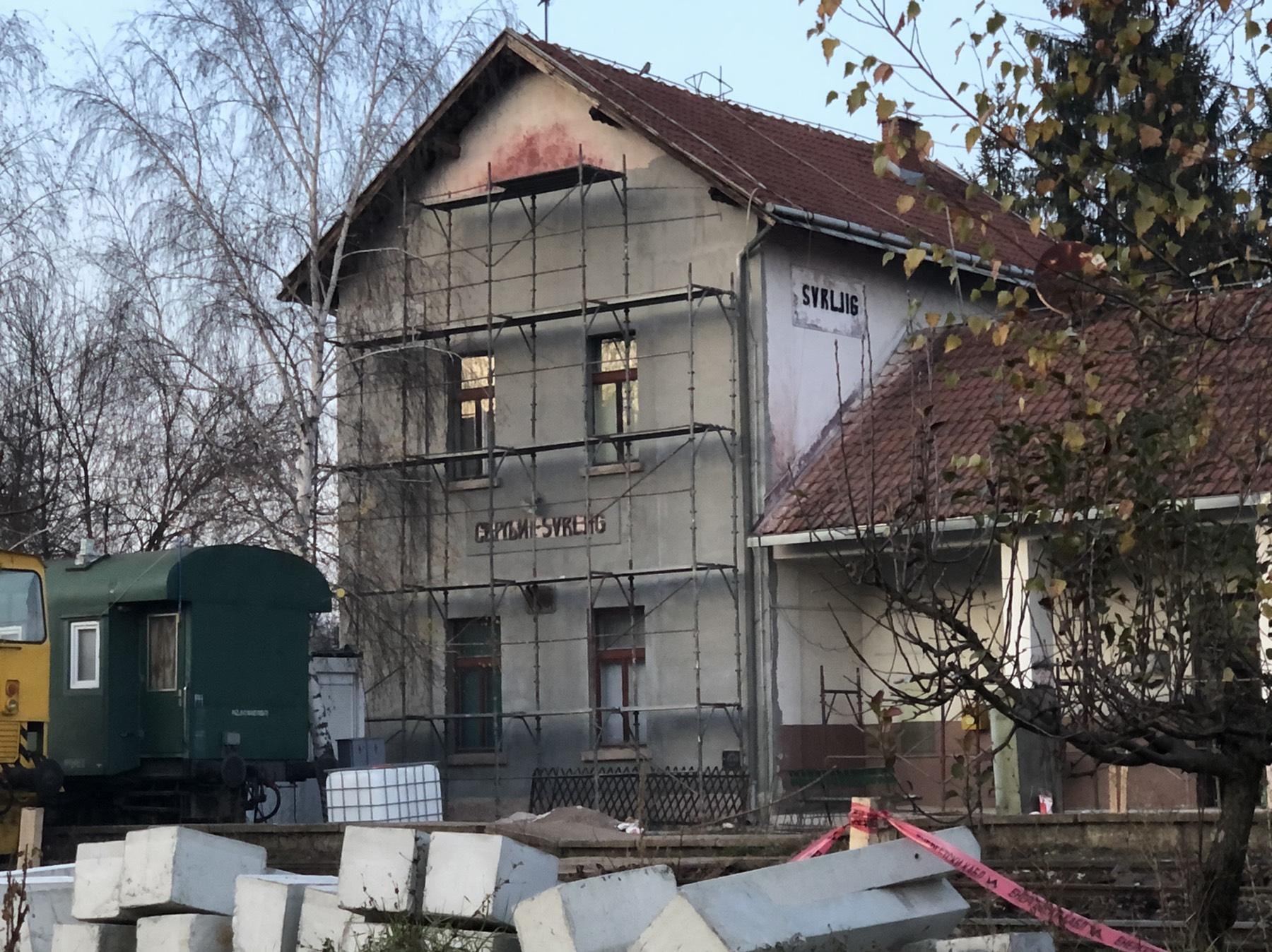 FOTO INFO: Rekonstrukcija železničke stanice u Svrljigu