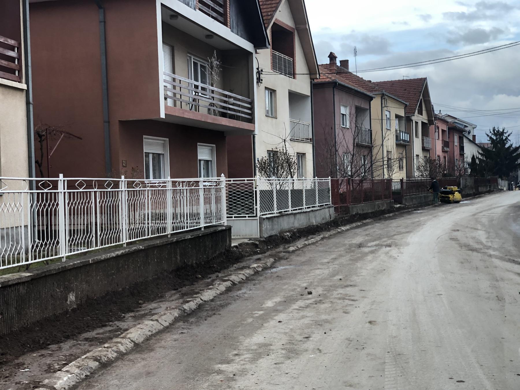 Izgradnja trotoara, foto: D.M.