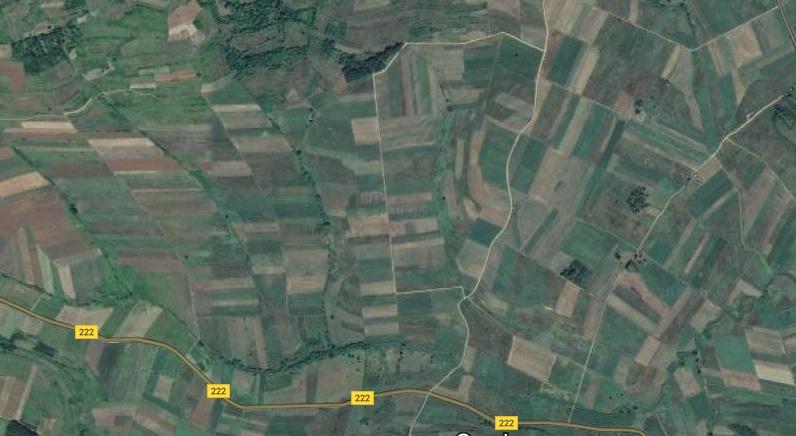 Poljane, komasirano područje, foto: Google maps