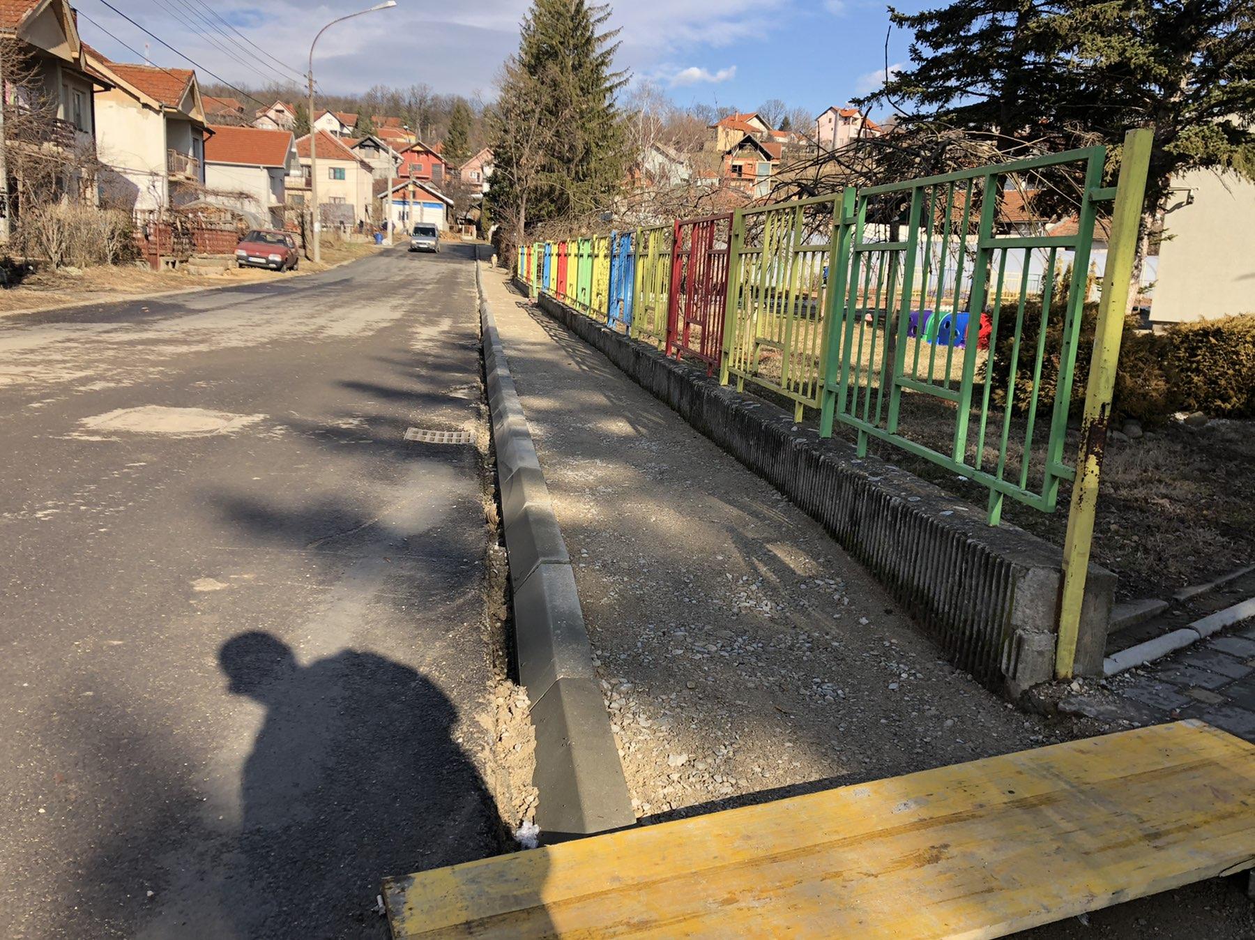 Početak izgradnje trotoara, foto: S.S.