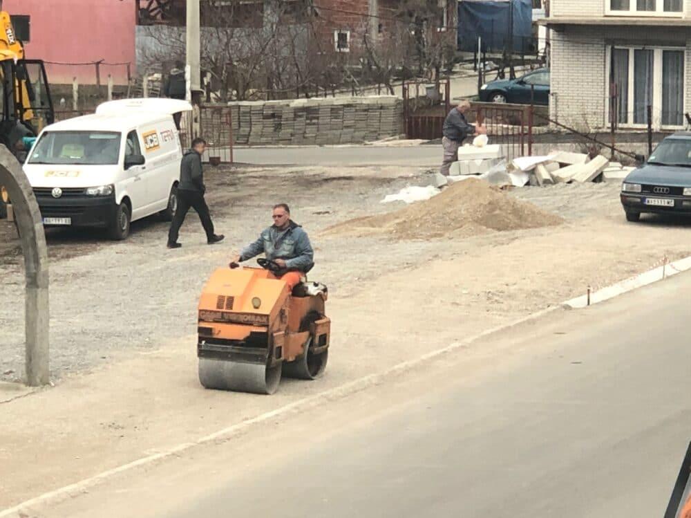 Radovi na izgradnji trotoara, foto: L.M.