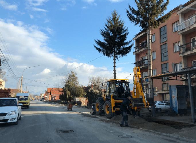 Ulica Stavre Partizana, radovi, foto: M.M.
