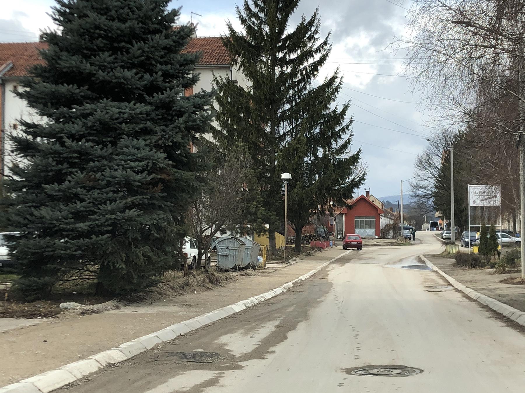 Izgradnja trotoara u Prvomajskoj ulici, foto: Svrljiške novine