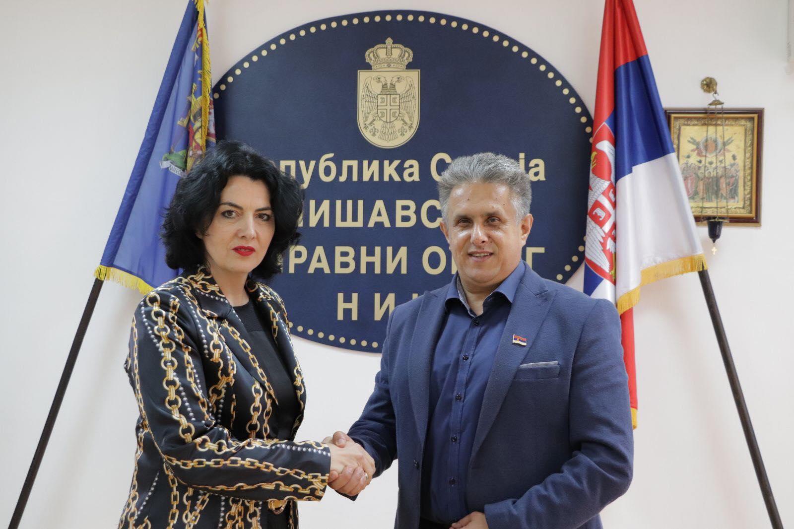 Sotirovski i Miletić, foto: Nišavski upravni okrug, S.D.