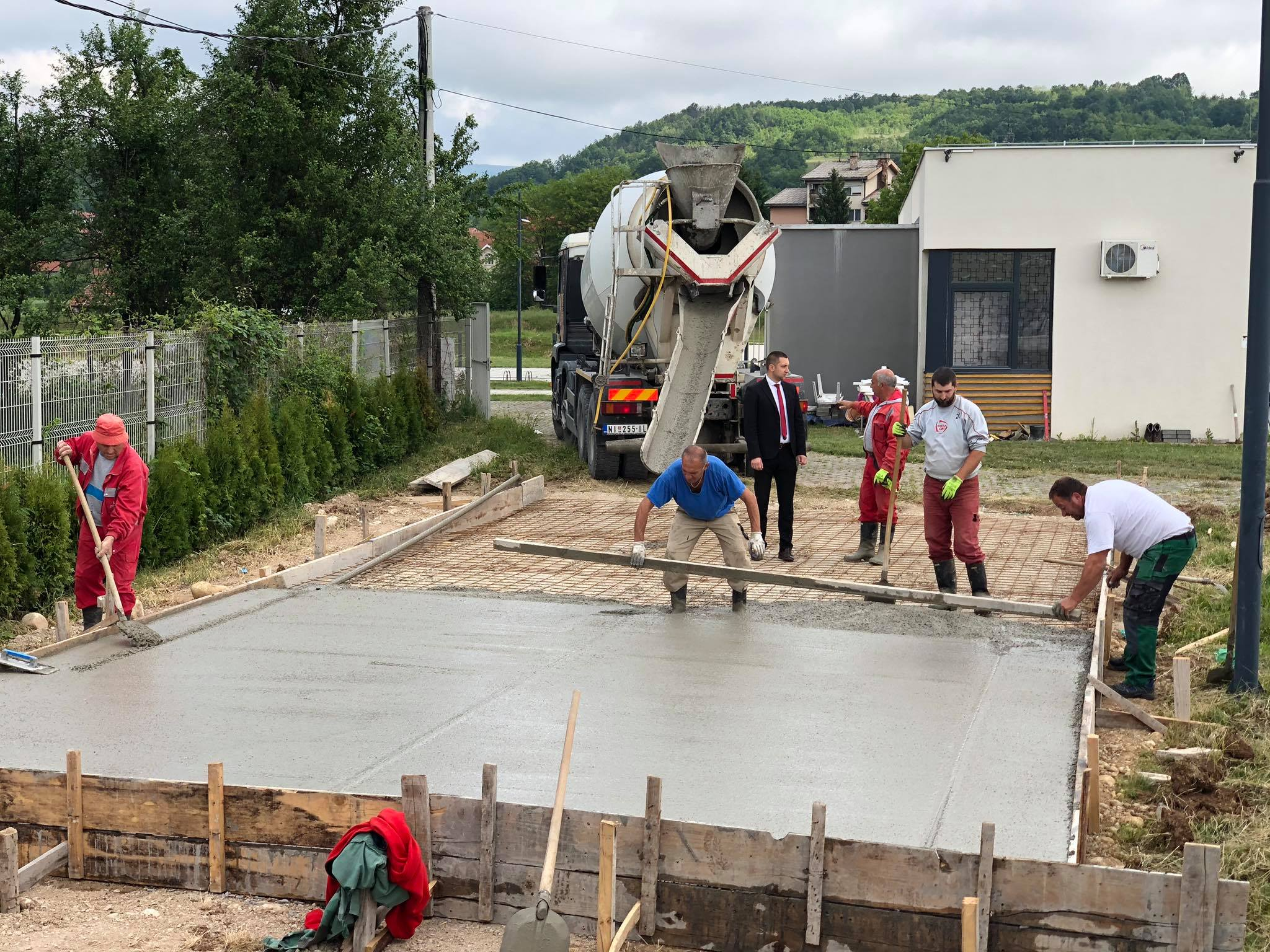 Izgradnja fut-tenis terena, foto: M.M.
