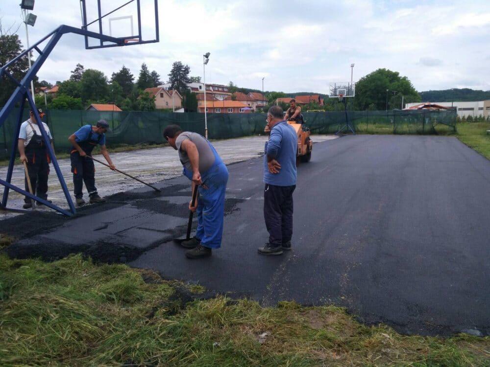 Rekonstrukcija košarkaškog terena, foto: M.M.