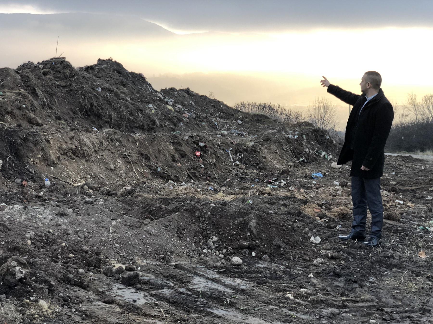 Predsednik opštine Miroslav Marković obišao očišćenu divlju deponiju kod gradskog groblja