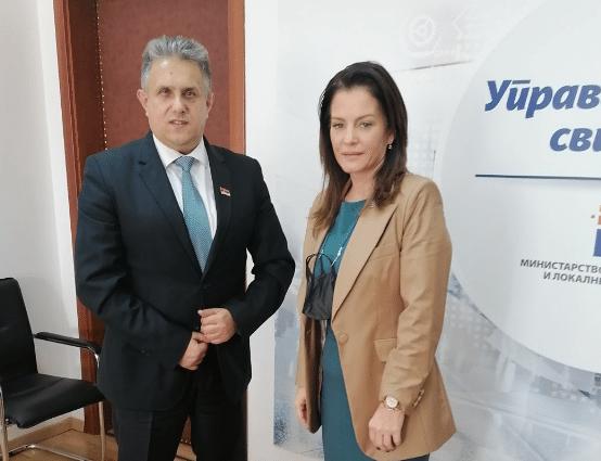 Miletić sa ministarkom Obradović, foto: B.V.