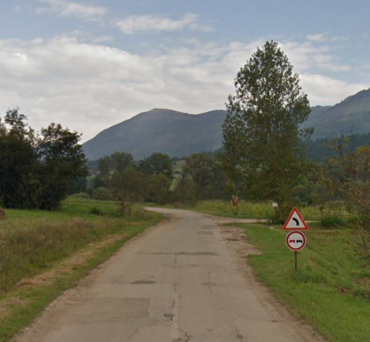 Skretanje kod sela Gulijan, foto: Google vs