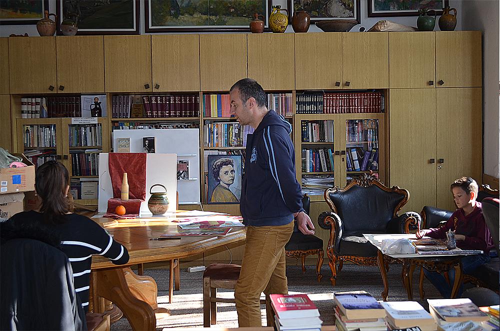 Akademski slikar Miljan Milenković, foto: M. Stojadinović, Svrljiške novine