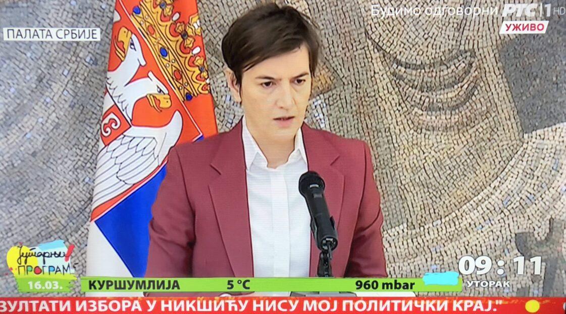 Ana Brnabić, RTS
