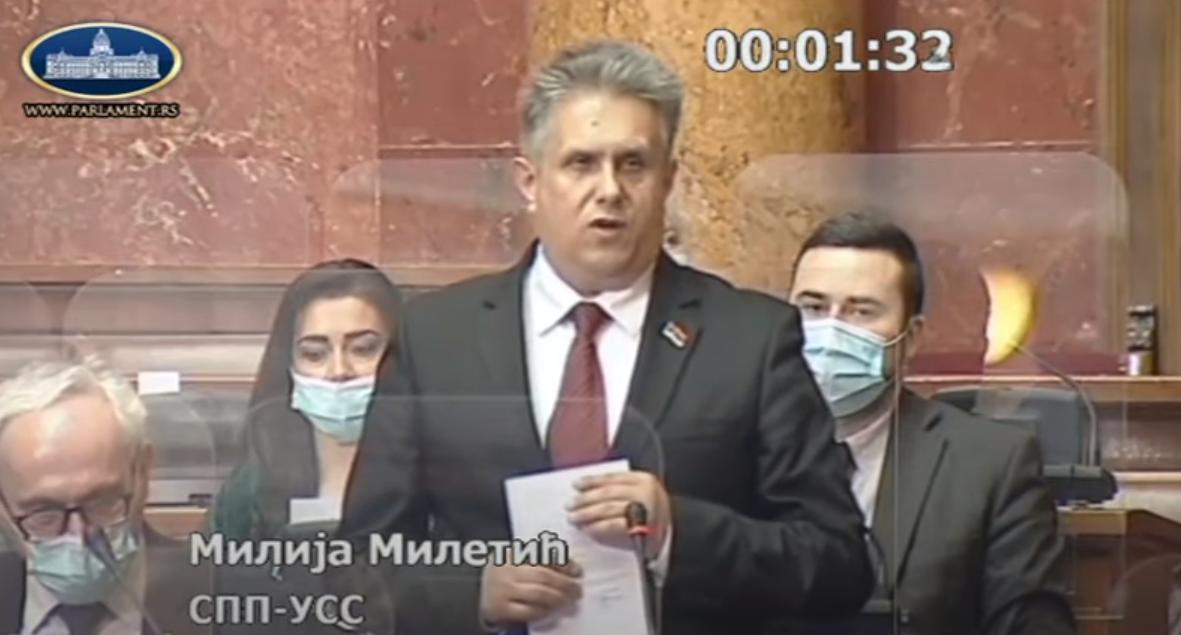 Narodni poslanik Milija Miletić, foto: Parlament Srbije