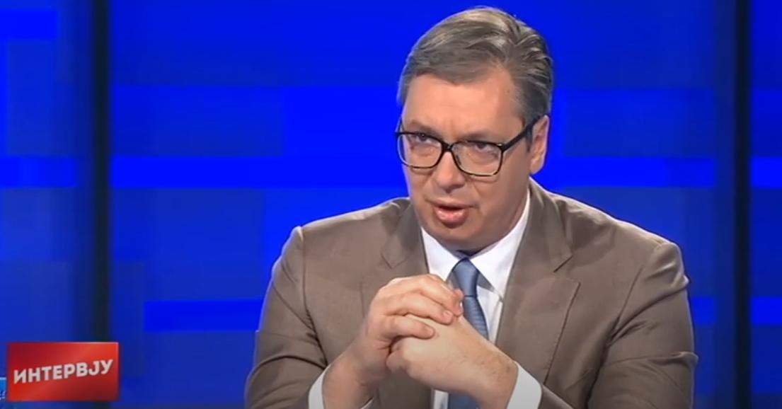 Predsednik Republike Srbije Aleksandar Vučić najavio nove pomoći, foto: RTS, PrtScr, emisija Intervju