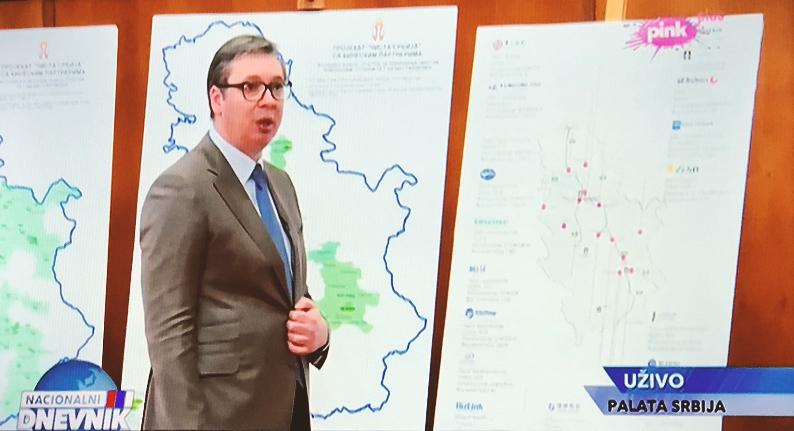 Predsednik Republike Srbije Aleksandar Vučić, foto: PINK, TV
