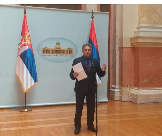Miletić Milija na konferenciji za novinare, foto: privatna arhiva