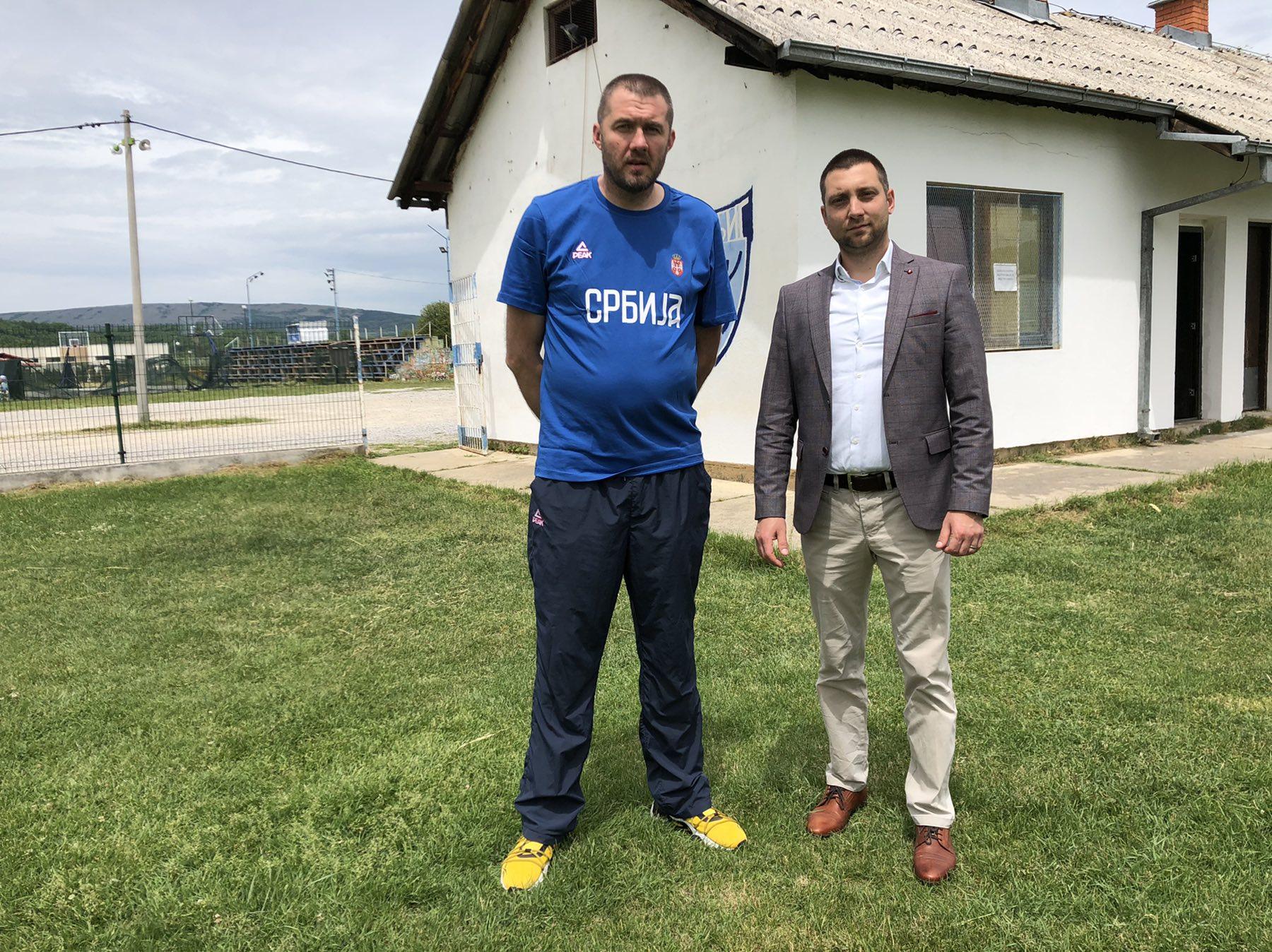 Sekretar Saveza Igor Radivojević i predsednik opštine Svrljig Miroslav Marković, foto: M.M.