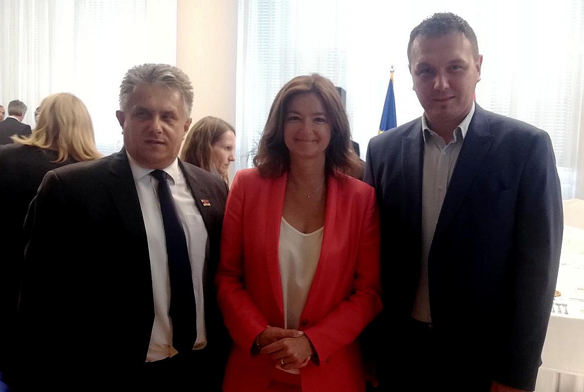 Miletić i Stevanović sa Tanjom Fajon – predsednicom Odbora Evropskog parlamenta za stabilizaciju i pridruživanje Srbije EU