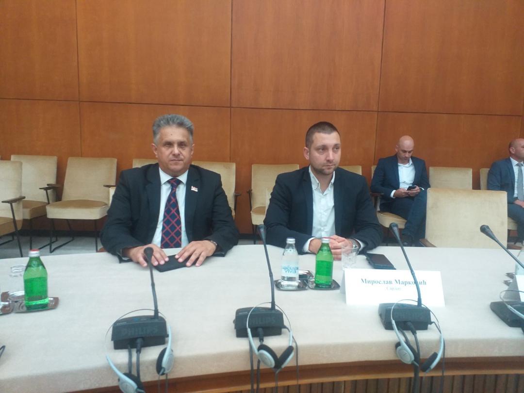 Miletić i Marković na potpisivanju, foto: T.M.